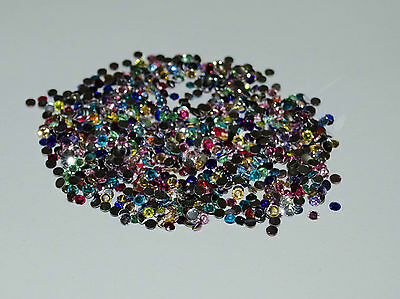 300 - 500 - 1000 Mixte Strass 3mm Non-Hotfix stone crystal pour ongle decoration