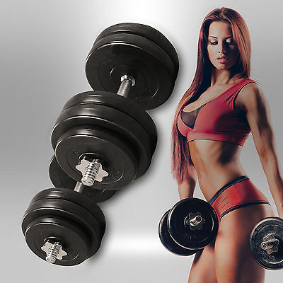 20KG Dumbbell Set Vinyl Gym Free Weights Biceps Fitness Home Exercise Dumbbells