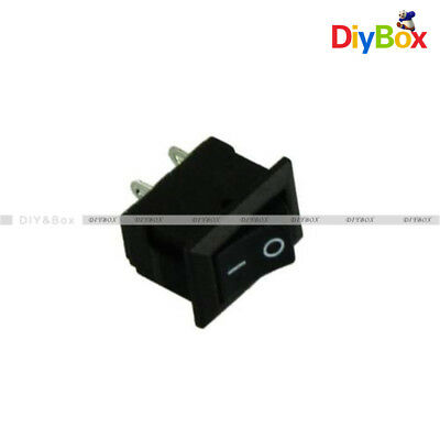 5PCS KCD1-101 Car Truck Boat Round Rocker 2Pin ON/OFF Toggle SPST Switch 6A 125V