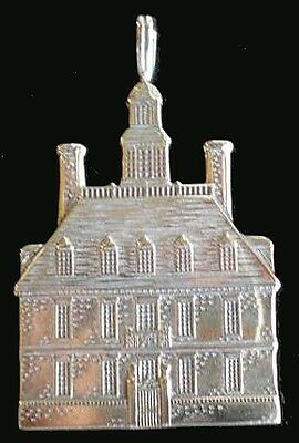 """Williamburg VA. Governor's Palace Sterling Silver Ornament Hand & Hammer 2"""" High"""