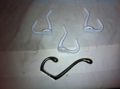 Lot Of (4) Vintage Metal Wire Coat Hat Shabby Hooks-Very Cool!!