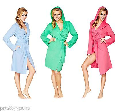 Women Lightweight Dressing Gown with Hood Agawa