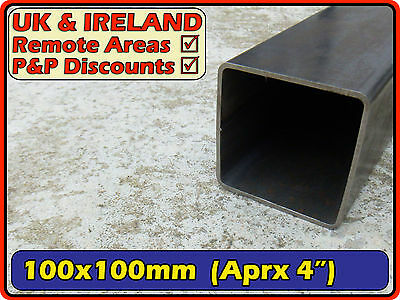 Mild Steel Square Tube (box section iron) | 100x100mm (100mm) 4"