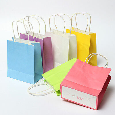 5Pcs Luxury Party Bags Kraft Paper Gift Bag With Handles Recyclable Loot Bag