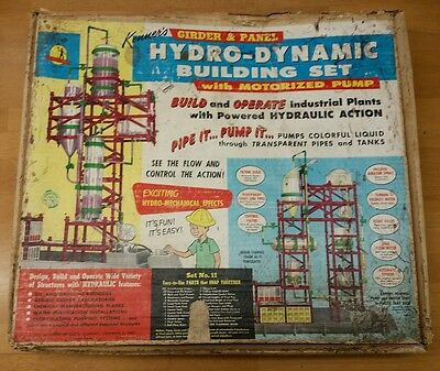 Kenner's Girder Panel Hydro Dynamic Building Set #11 1961 For Parts