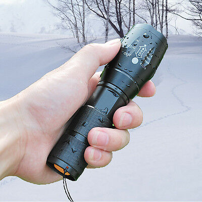 UltraFire 3800LM CREE XML T6 LED Zoomable Flashlight Torch 5-Modes Rainproof AAA