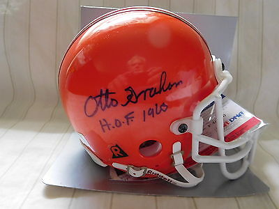Otto Graham signed Browns mini helmet, PSA, HOF 1965