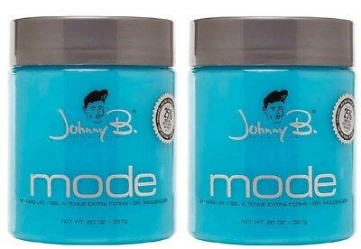 2x Johnny B Mode Authentic Hair Styling Gel Extra Firm With Pump 16 Oz 20