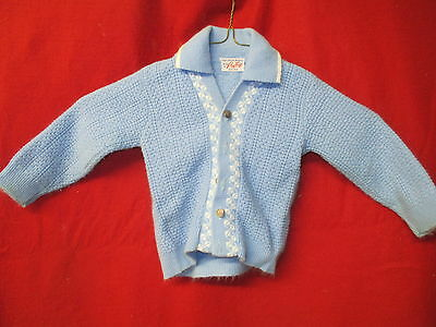 Vintage 1950's little Boy's Sweater Roy Togs blue & white