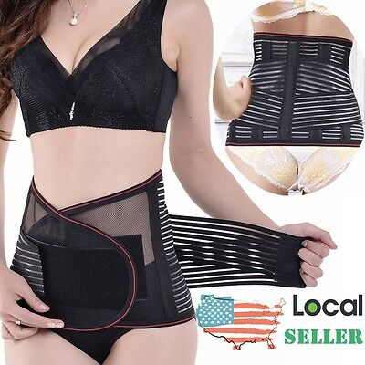 Breathable Postpartum Lower Lumbar Waist Support Back Brace Pain Relief Belt UD3