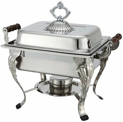 Winco Crown 4qt Half-size Chafer, S/S 508 New