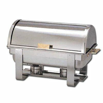 Winware 8 QT Stainless Steel Roll Top Chafer Gold Accent C 5080