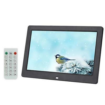 "10.1"" TFT-LCD HD Digital Photo Frame Alarm MP3 MP4 Movie Player + Remote BLK FT"