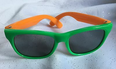 Toddler Yellow And Green Wayfarer Style Sunglasses