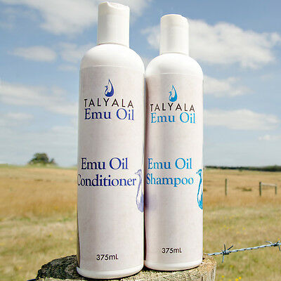 Talyala Natural Emu Oil Shampoo & Conditioner Twin Pack - Paraben, SLS and Ch...