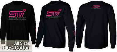 new Subaru STI long sleeves wrx legacy forester Black T-Shirt All Sizes S - XXL