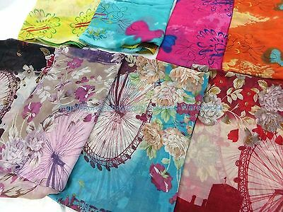 US SELLER |lot of 5 women floral print large scarf wholesale beach sarong