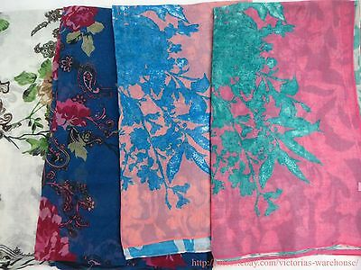US SELLER |lot of 10 wholesale beachwear vintage floral large scarf beach sarong