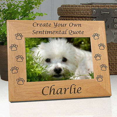 """Personalized """"Create Your Own"""" Custom Dog Memorial Frame"""