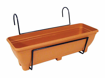 Hanging Balcony Planter - Trough holder for use on balconies, fences or railings