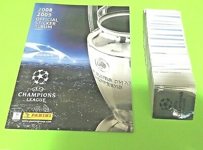 Panini Champions League 2009 Complete loose stickers set + empty album