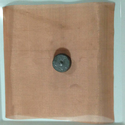 """Copper Mesh Pure 50 Mesh 12""""x12"""" + 1 Lb Lead for Reverse Electroplating"""