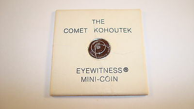 "Franklin Mint Eyewitness Mini-coin Pure Platinum 10mm 1.4g ""The Comet KOHOUTEK"""