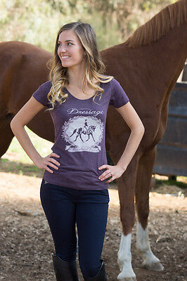 """Cowgirls for a Cause """"Dressage the Ultimate Dance"""" Tee-Purple-L"""