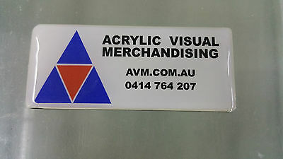 Full Colour Printed 70x30mm Domed Name Badge Pin/Magnetic Fastener
