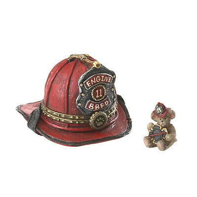 Boyds Treasure Box 9/11 Firefighters Helmet/spark E1/11