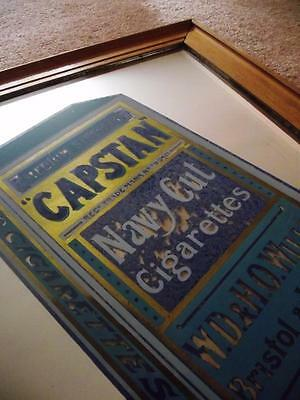 Rare Large Vintage WILLS CAPSTAN Cigarettes Advertising Mirror Pop Art