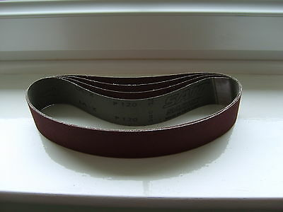 "Abrasive belts 25mmx762mm(1""x30"") BRILLIANT JOINTS 60-600grit pack of 10."