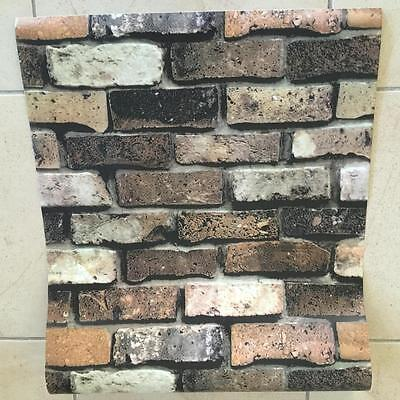 0.53M x 10M Rustic BRICK Home Renovation Project Featured Wall Paper Wallpaper