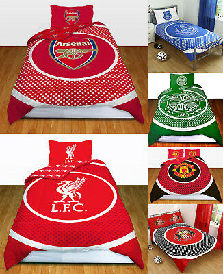 Football Teams Reversible Bullseye Single  Double Duvet Cover With Pillow Cases