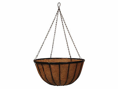 Hanging Basket / Hanging Cauldron Planter - Pre-lined with Coco liner.