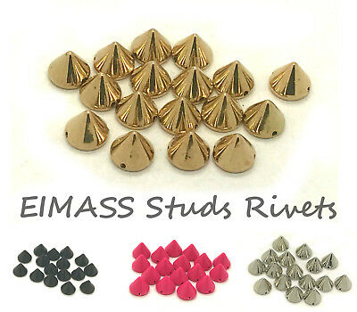 EIMASS® CCB Acrylic Spike Cone Studs, Beads, Sew on, Glue on, Stick on,DIY, 2178