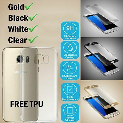Samsung Galaxy S7 Edge 3D Tempered Glass Screen Protector + Clear TPU Case Cover