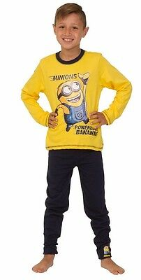 Boys Minions Pyjamas 4 to 10 Years Powered By Bananas Despicable Me Pjs