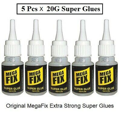60G Mega Fix Super Glue Extra Strong Industrial Strength Adhesive Wood Metal New