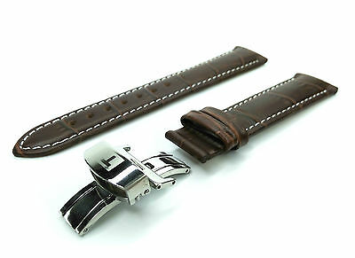 Genuine Leather STRAP/BAND for TISSOT WATCH 18mm NEW Steel Pins/Clasp BROWN