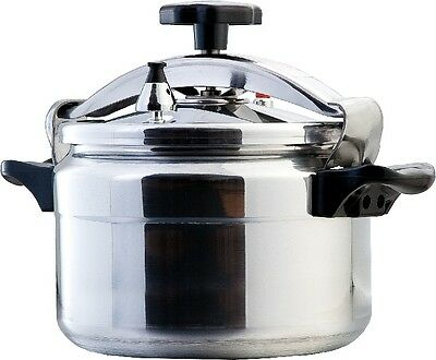 10Lt Commercial Pressure Cooker Aluminium Restaurant Cafe Catering Chef Cook