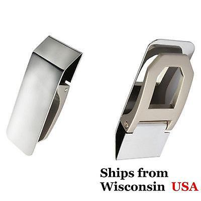 Stainless Steel Money Clip Pocket Wallet Cash money Credit Card Holder- from USA