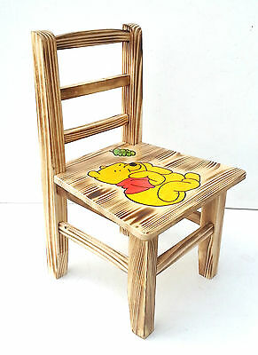 Children's Wooden Chair with Winnie the pooh painted on them