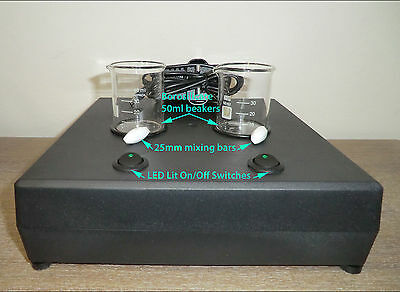 E Liquid Magnetic Mixer/Stirrer, 2000rpm, Stirring Bars and Beakers Included