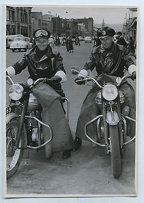 1954 Pair Of New Triumph Motor Bikes South Australian Police Adelaide Sa P43