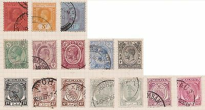 (OQ-8) 1902-60 Malaya mix of 25stamps 1c to 35c mixed condition (E)