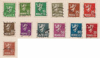 (OQ-38) 1893-1950 Norway Mix of 32stamps 1ORE to 80ORE used (A)