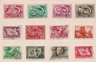 (OQ-59) 1950 Hungary mix of 23stamps 2f to 4ft mixed condition (P)