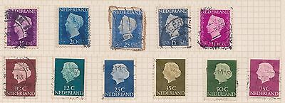 (OQ-27) 1969 Netherlands mix of 21stamps 6c to 85c (B) used
