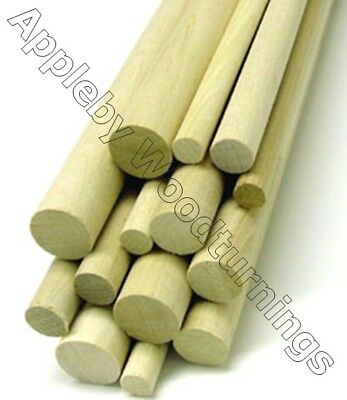 2 pcs 1/4 Dia Birch Hardwood Dowel Rod 12 Inches (6.35 x 300mm) Long Imperial Si